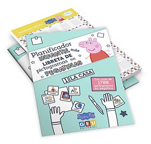 Pack Planificador Infantil Peppa Pig y Libreta con Pegatinas de Pictogramas | Organiza Tareas de Casa: Planificador Infantil Peppa Pig con Pictogramas ... Infantil Niños de 3 a 5 años con Pictogramas)