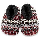 Calcetines Zapatillas de Hombre, Agilis Soft Step Technology con Planta de Memory Foam (Black Multi, 43)