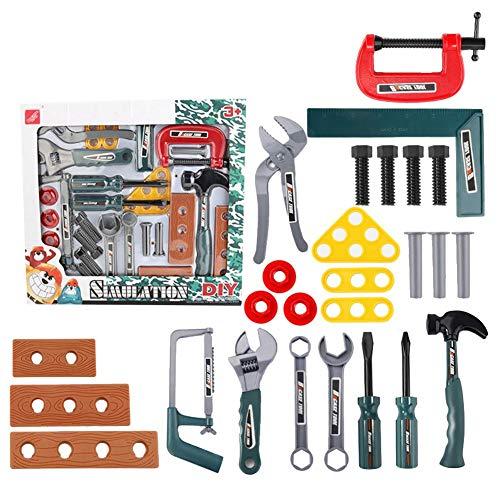 Chlius - Juego de herramientas para niños, 26 piezas, con destornillador, reparación, juguete, taller, juego de roles con maleta, juego de herramientas de juego, juguetes educativos para niños
