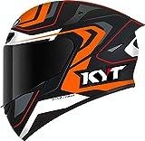 KYT TT Course Overtech Casco Schwarz/Orange