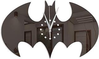 WHSS Wall Clock Batman Creative Home Decor Salon Horloge Bricolage Acrylique Horloge Murale Horloge Murale Halloween Autoc...