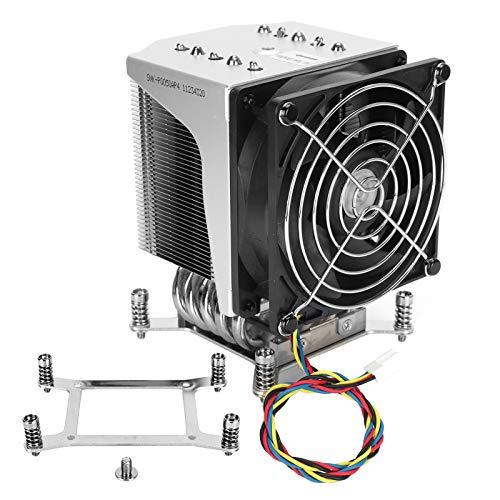SNK-P0050AP4 Ventilador enfriador de CPU, 5 heatpipes Ventilador PWM de 4 pines y 126 mm, ranura X9 R R 4U enfriador LGA2011 Kit de sistema de enfriamiento, para E5‑1600 / E5‑1600 v2 / E5‑1600 v3