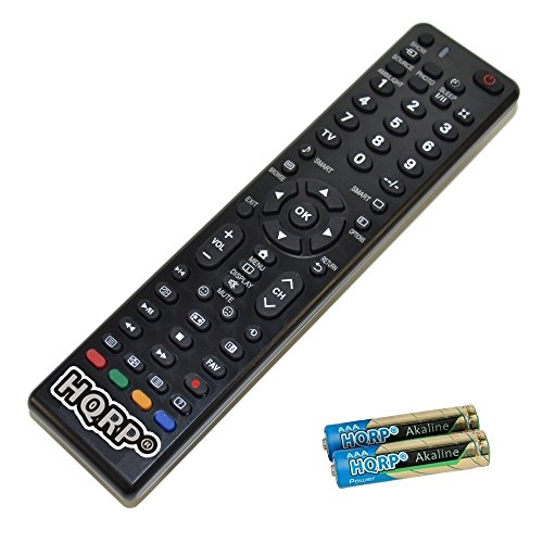 HQRP Universale Fernbedienung kompatibel mit Philips 6500er Serie 40PFK6540/12, 50PFK6540/12, 55PFK6540/12