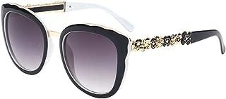 LUKEEXIN Vintage Flower Leg UV Protection Lady's Sunglasses for Women Men (Color : White)