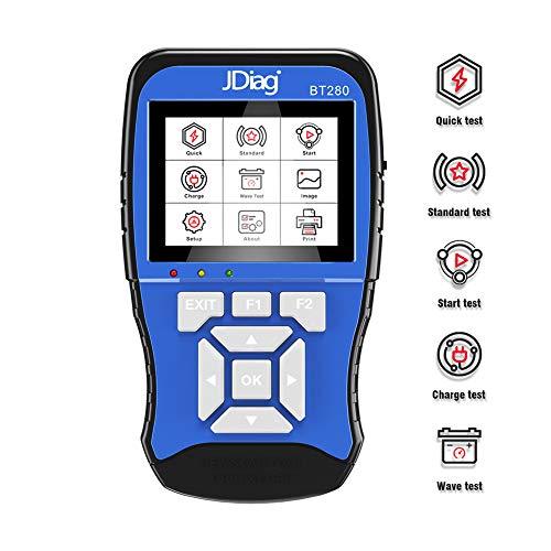 Autobatterie Tester 12V 100-2000 CCA Professional Auto Batterietester Kfz Lastanalysator & Lichtmaschinen Car Battery Akku Test für PKW SUV Kleinlaster leicht LKW