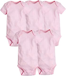 Baby Clothes 5 pcs/Set Bodysuits Sleeveless Solid Soft Cotton Baby Bodysuits