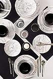 Set di stoviglie in marmo, 24 pezzi, 6 pezzi in porcellana, piatti fondi, piatti piani da dessert e ciotole, stoviglie vintage moderne, servizio combinato