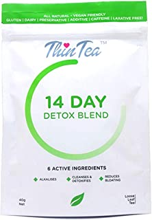 Organic Healthy Fasting Tea   Organic Morning Diet Tea   Immunity Booster - Detox - Weight Loss   100% Natural Gluten, Dairy, Caffeine, Preservative and Additive Free - Fitness Thin Tea (Detox)