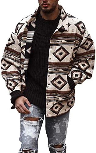 Xiaoxuemeng Men's Slim Fit Jacket Woolen Blend Floral Printed Jackets Coat Outwears