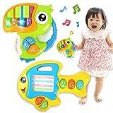 Nueplay 音楽のおもちゃ 2個 ピアノキーボード 動物 魚 鳥 楽器おもちゃ 触感 知育玩具 ライトと音楽付き 早期教育 学習開発 赤ちゃん 幼児 孫 男の子 女の子 幼稚園 保育園 人気 誕生日プレゼント ギフト