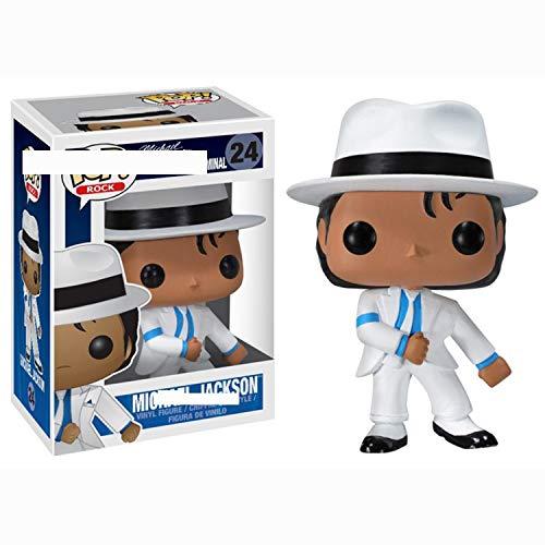 Bobblehead POP Michael Jackson decoración del coche (Color : D)