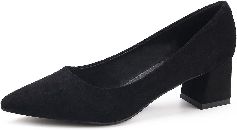 Yiteli Women Dress Pumps Closed-Toe Black