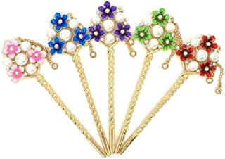 LUKEEXIN Multi-Color Leaf Shape Retro Hairpin Bridal Hair Accessories for Wedding (Color : 12 PCS)