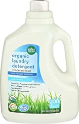Whole Foods Market, Organic Laundry Detergent 3X Concentrated, Unscented, 200 fl oz