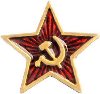 PRETYZOOM Spilla Spilla Martello Stella Spilla Falce Comunismo Simbolo Smalto Petto Metallo Vestiti Collare Distintivo Dec...
