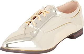 Cambridge Select Women's Pointed Toe Lace-Up Low Heel Oxford
