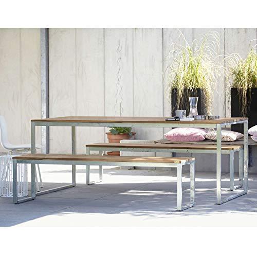ikarus Stelle Tisch 160 x 80 cm - Silbergrau