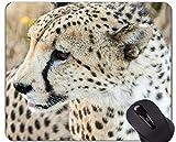 Yanteng Cojín de ratón de Goma Antideslizante del Juego, Cojines de ratón Animales del Leopardo de la Familia del Gato