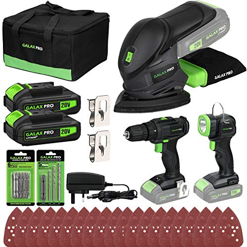 Cordless DIY Power Tool Kit GALAX PRO, Cordless Mouse Sander...