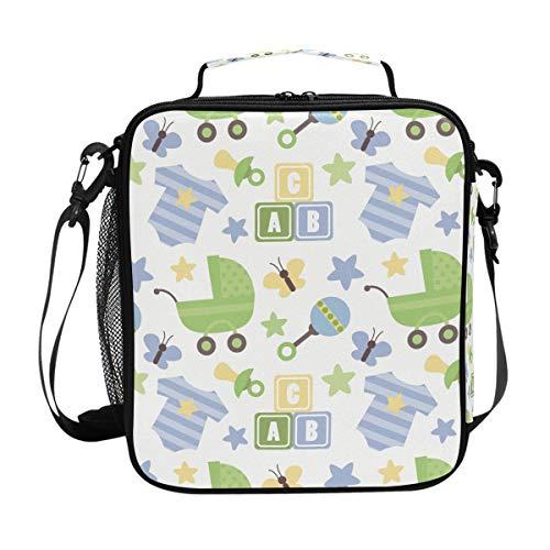 DEZIRO Leuke Baby Kinderwagen Jumpsuit Dual Geïsoleerde Lunch Koeler Tas Lunch Bag