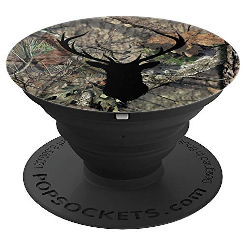 Brown Camouflage Black Deer Buck Hunting PopSockets Grip and Stand for Phones and Tablets