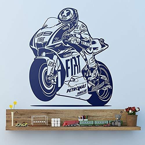 Tianpengyuanshuai Rennen Motorrad Aufkleber Rennen Vinyl Wanddekoration Wandaufkleber Motorrad Rennen Aufkleber69X81cm