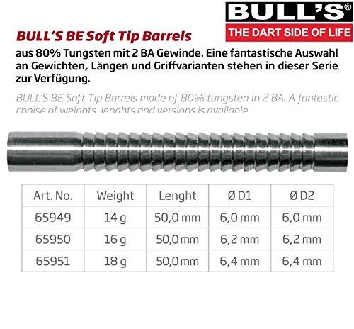 BULL'S Be-14 Soft Dart Barrel 14g, silber