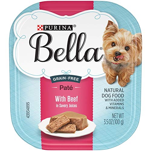 Purina Bella Grain Free Natural Small Breed Pate Wet Dog Food, With Beef in Savory Juices - (12) 3.5 oz. Trays