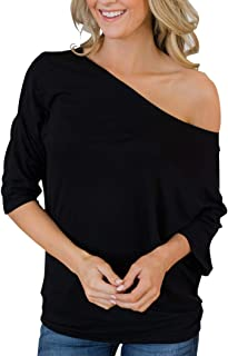Women's Off Shoulder Tunic Tops Half Sleeve Blouse Casual Summer T-Shirt
