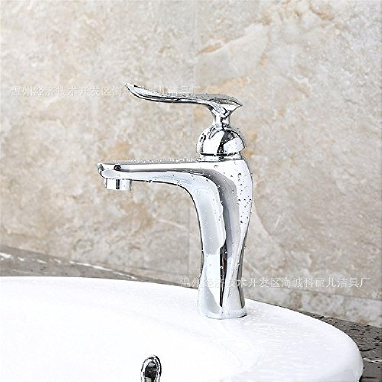 ETERNAL QUALITY Badezimmer Waschbecken Wasserhahn Messing Hahn Waschraum Mischer Mischbatterie Alle Kupfer einzigen Wasserhahn Hotel warme und kalte Dual Control Waschbec
