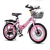 Bicicleta Deportiva De Velocidad Variable para Niños Bicicleta De Montaña para Niños Marco...