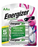 Energizer Rechargeable AA Batteries, 700 mAh NiMH, Pre-charged, Chargeable for 1,000 Cycles, 8 Count (Recharge Universal)