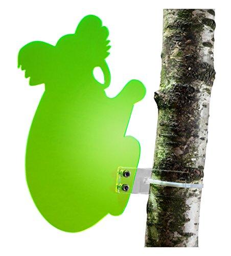 """Sonnenfänger """"Koala"""" aus transparentem Plexiglas (Grün), fluoreszierend -> leuchtende Kanten auch in den Abendstunden, 25 cm Höhe, incl. Montagematerial, Frost- und Witterungsbeständig"""