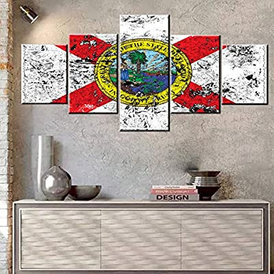 Mookou American State Flag Paintings HD Prints on Canvas