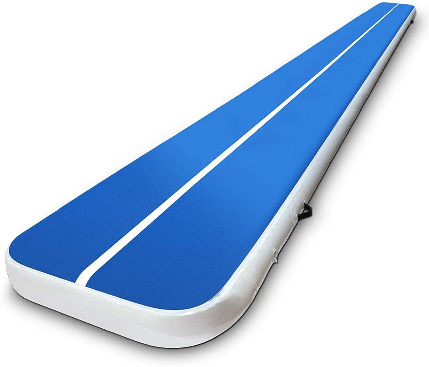 Air Track Gymnastics Inflatable Airtrack Mat 7M X 1M Tumble Floor Gymnastic Training Cheerleading Yoga Gym Professional Equipment Everfit Home Indoor Outdoor blueee 20CM Thick