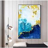 Mmdianpu Abstrakte Bunte Marmor Bilder Gold Gelb Poster