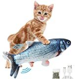 DAVOM Moving Fish Interactive Cat Toy, Electric Wiggle...