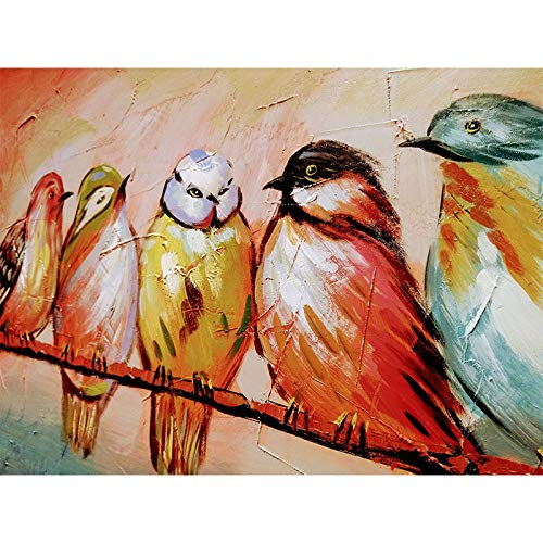 N / A Canvas Oil Painting Abstract Bird Wall Art Picture Canvas and Poster Picture Home Decoration Frameless 40X50 cm