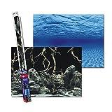 Fondo de papel de doble cara para acuarios Roots/Waters XL 150 x 60 cm.