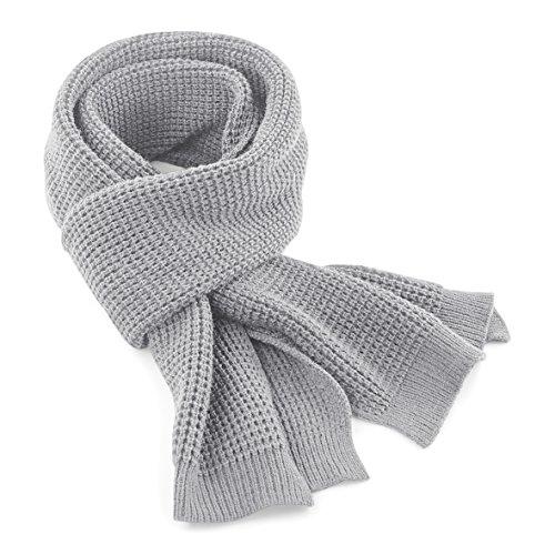 Beechfield - Echarpe classique tricotée - Adulte unisexe, Gris - Gris clair, Taille unique