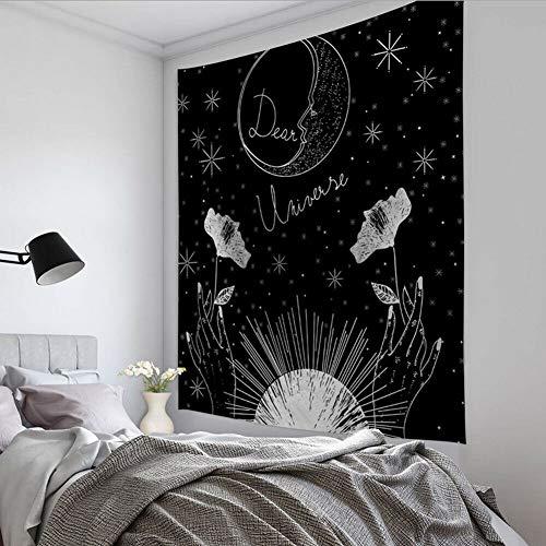 WERT Tarot Sol y Luna Patrón Manta Tarot Indio Mandala Tapiz Colgante de Pared Bohemia Gypsy Home Dormitorio Decoración Tapiz A14 150x200cm