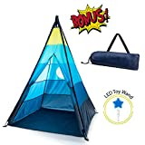 GiddyGo Teepee Tent for Kids | Teepee Tent for Boys or Girls with Fiberglass Poles and Mesh Window | Indoor / Outdoor Kids Tent for a Toddler or Child | Child Safety Test Lab CPSC Certified