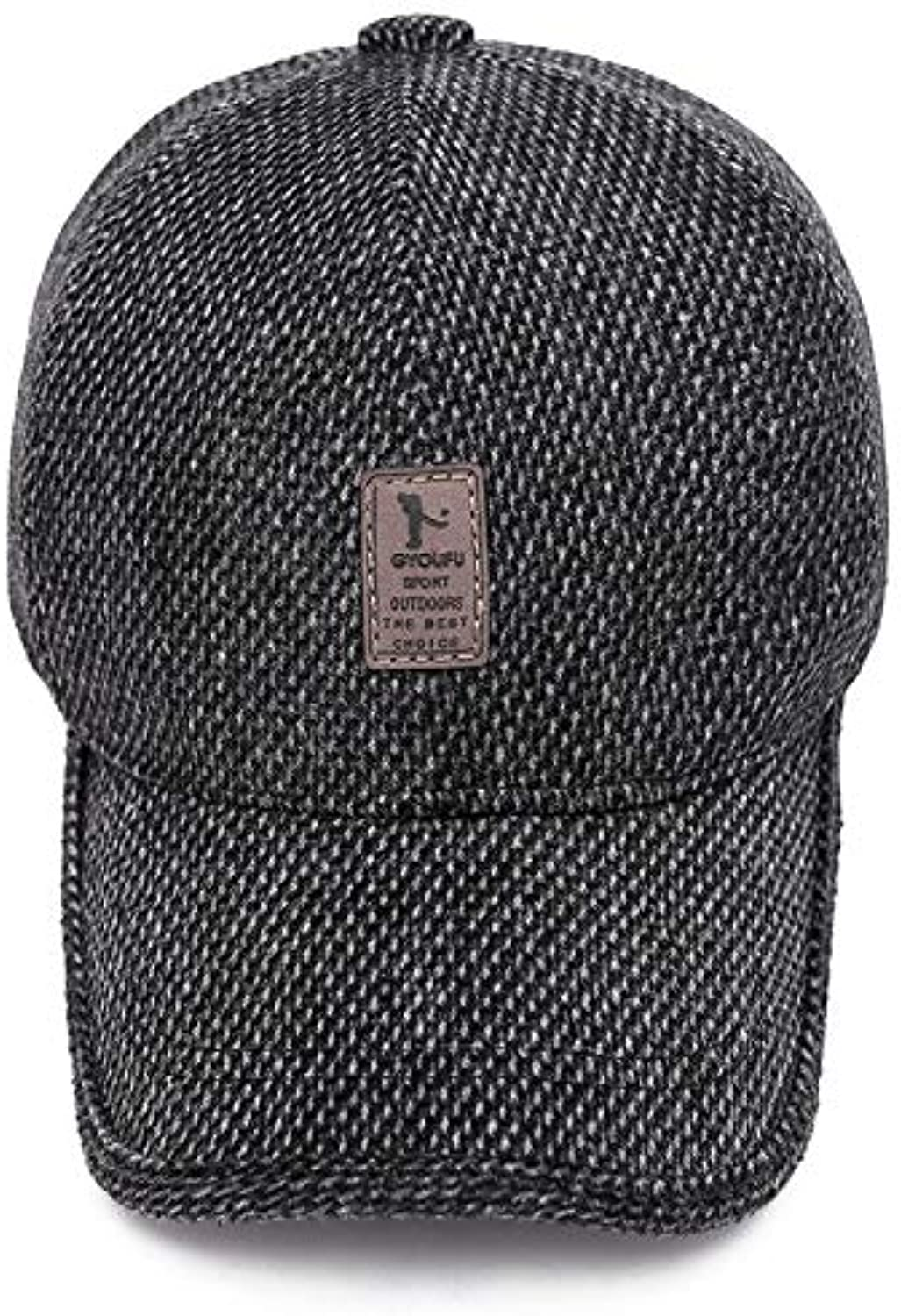 AAMOUSE Men's Winterbaseball Caps with Ear Flaps Woolen Knitted Warm Cap Thicken Hat Male Outdoor Sports Earflaps Hats