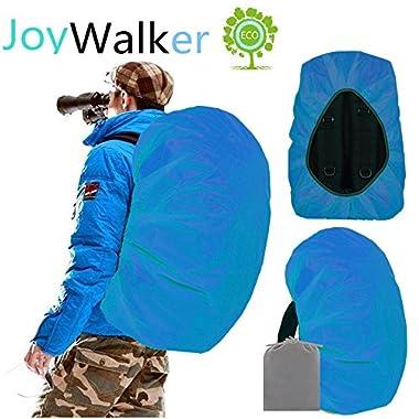 Joy Walker Waterproof Backpack Rain Cover for (15-90L) (Acqua, Large (for 40-55L backpack))