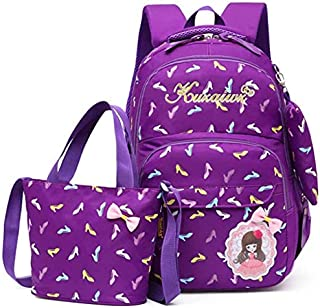 School Backpack Nylon School Bags Set for Girls Female Backpack Schoolbags Backpack Feminine Book Bag Mochila Infantil (Co...