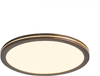 Plafonnier, 40cm, 25W, Bois D'hévéa, Éclairage Intérieur, Dimmable, Convient pour Salle De Bain, Chambre, Cuisine, Salon, ...