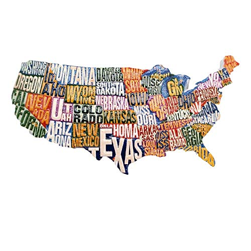3D State Name Map Style USA Kühlschrank Magnet Reise Souvenir Geschenk Home Küche Kühlschrank Dekoration Magnet Sammlung
