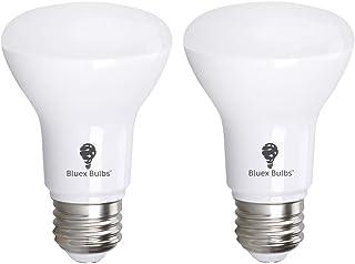 2 Pack BR20 LED Bulb 5000K 7W 50 Watt Equivalent - Dimmable - 550 Lumens E26 Cool White LED Can Light Bulbs for Bedroom, K...