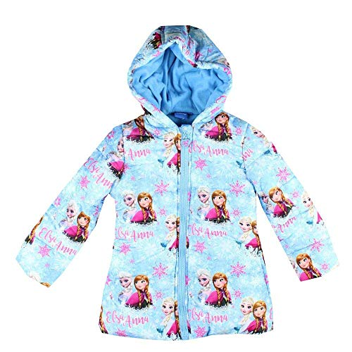 Frozen Die Eiskönigin ELSA Mädchen Winterjacke Mantel Parka Kapuze blau (98)