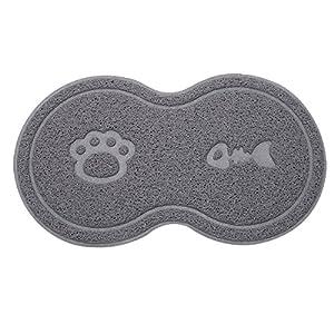 Tapis Chien Gamelles Sunater PVC pour animal domestique alimentation Tapis de nourriture pour chiens, chats et animaux de compagnie